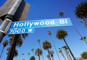 image of hollywood boulevard street sign